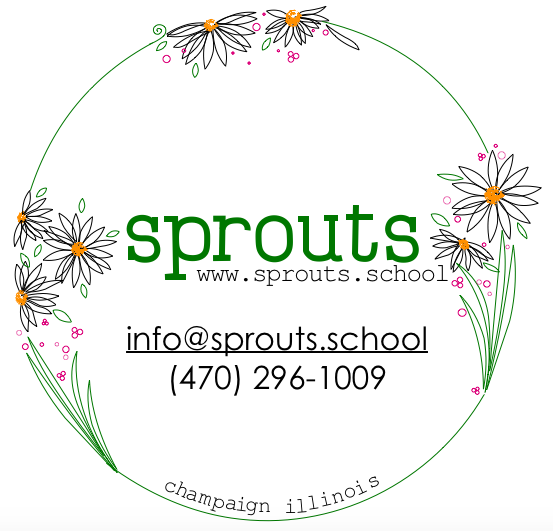 sprouts family daycare school preschool pre-k kids children childcare class art nature waldorf champaign urbana